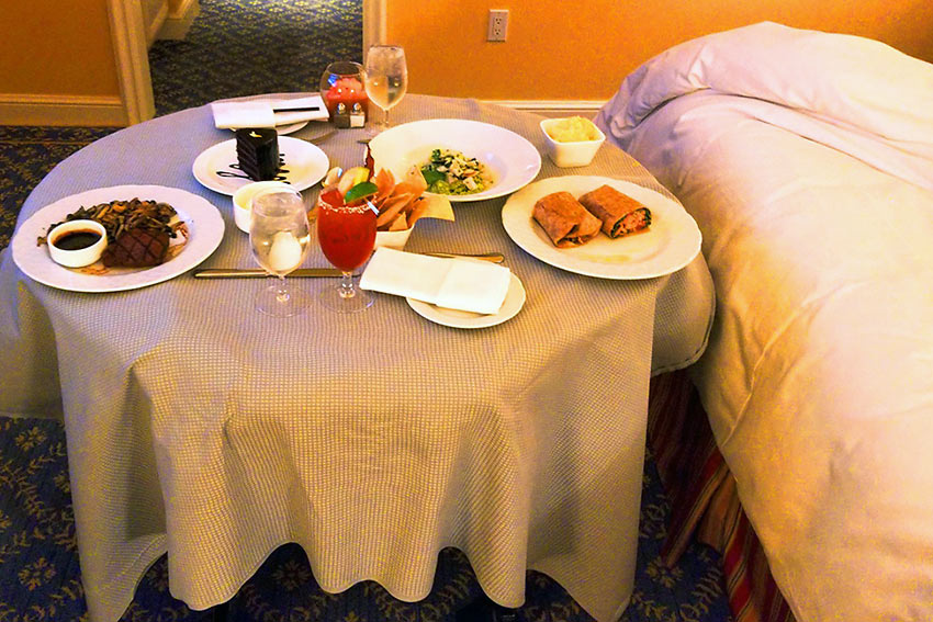 room service at the Four Seasons Hotel Westlake Village