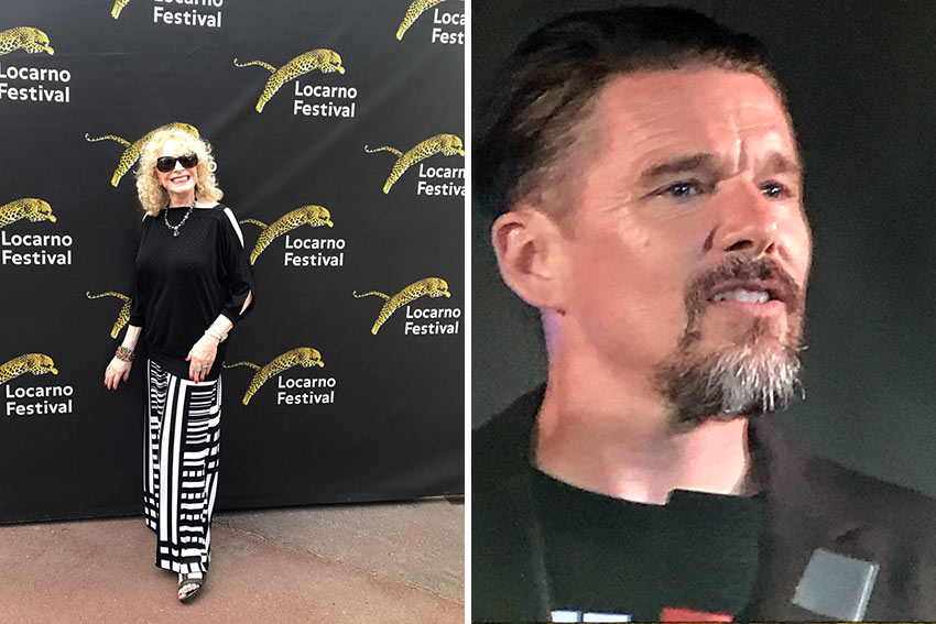 the writer at the Red Carpet at the Locarno Film Festival; Ethan Hawke