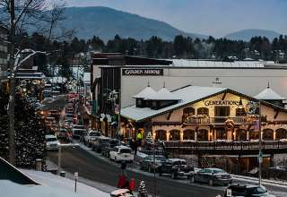 Lake Placid in winter