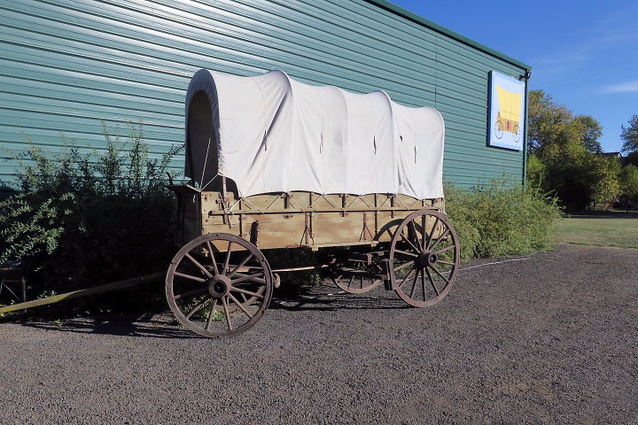 original Conestoga wagon at the Spiesschaert Farm