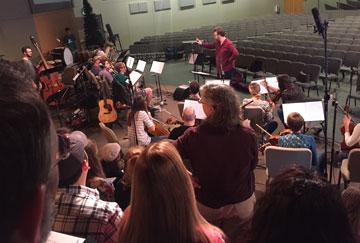 orchestra at church