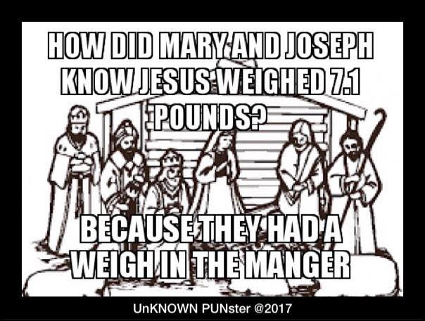 Don's Puns: Weigh in the Manger