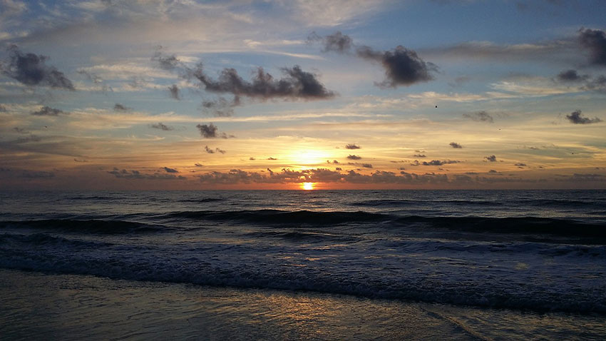 sunset at Amelia Island, Florida