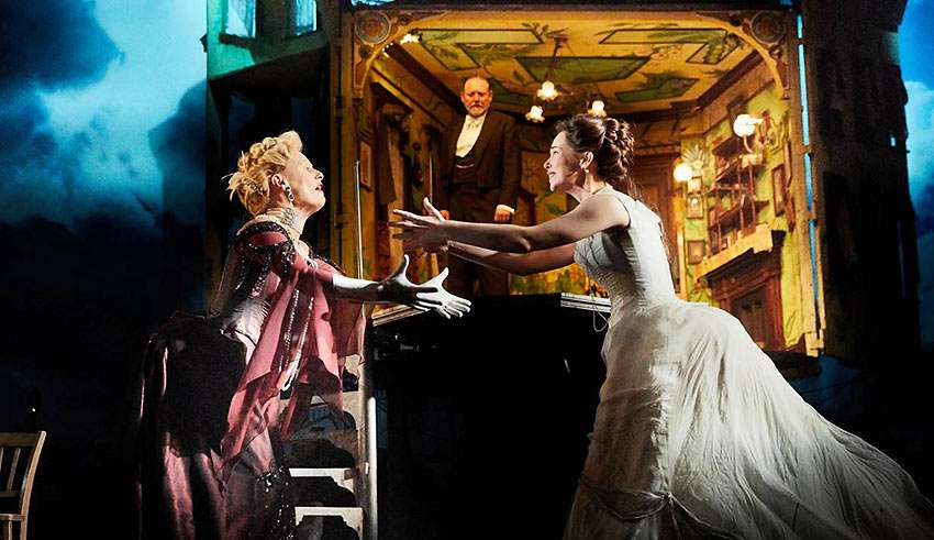 Christine Kavanagh, Lianne Harvey and Jeff Harmer in 'An Inspector Calls'