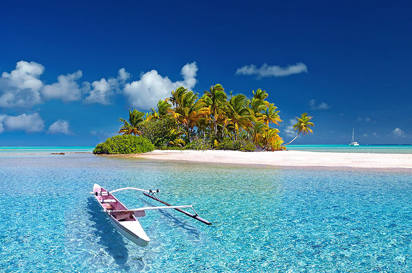 French Polynesia island scene