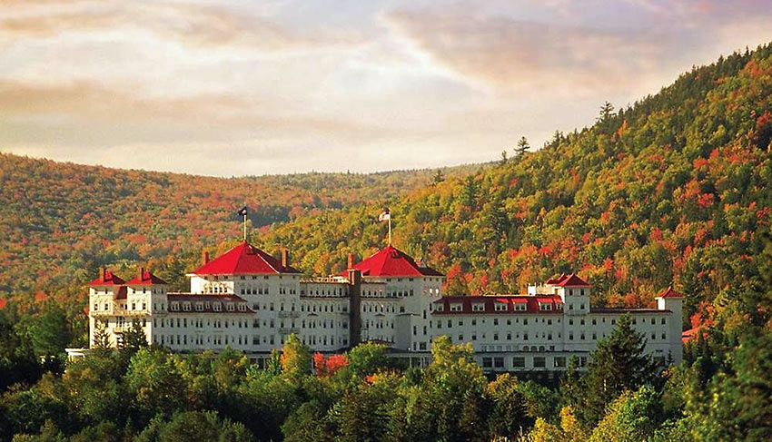Omni Mount Washington Resort at the base of Mount Washington, New Hampshire
