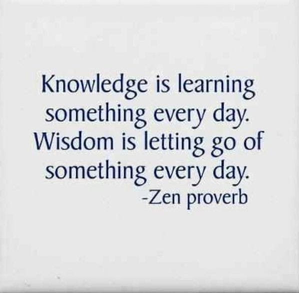 Heavy Thought of the Week: Wisdom vs Knowledge