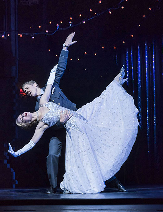 Ashley Shaw as Cinderella and Andrew Monaghan as Harry, the RAF pilot