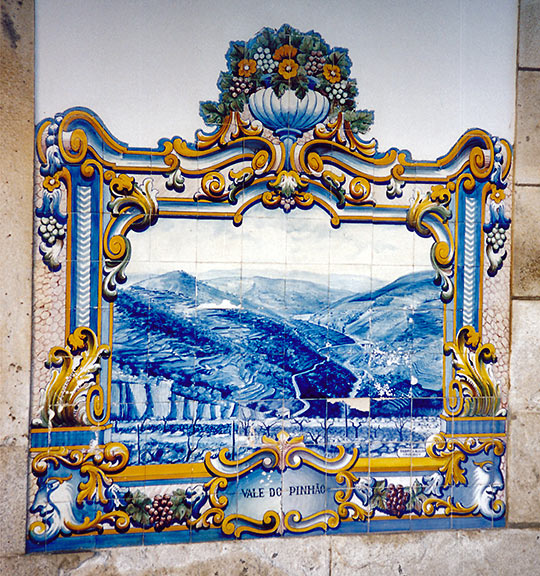 Azulejos tiles inside the Pinhao Railway Station