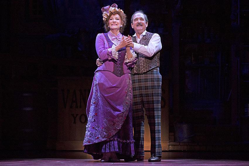 Betty Buckley and Horace Vandergelder perform in 'Hello Dolly'