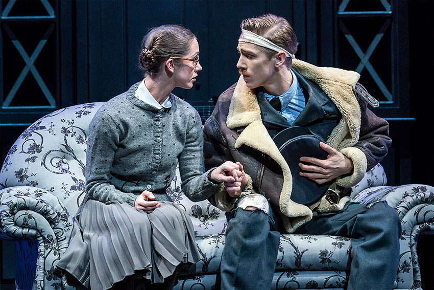 Ashley Shaw as the 'plain' Cinderella and Andrew Monaghan as the injured RAF pilot