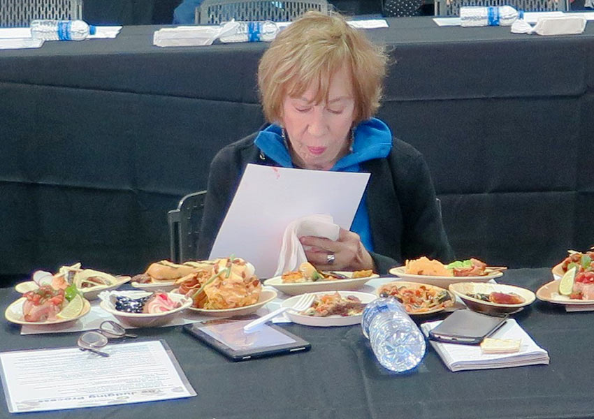 the writer judging at the 2018 International World Food Championships