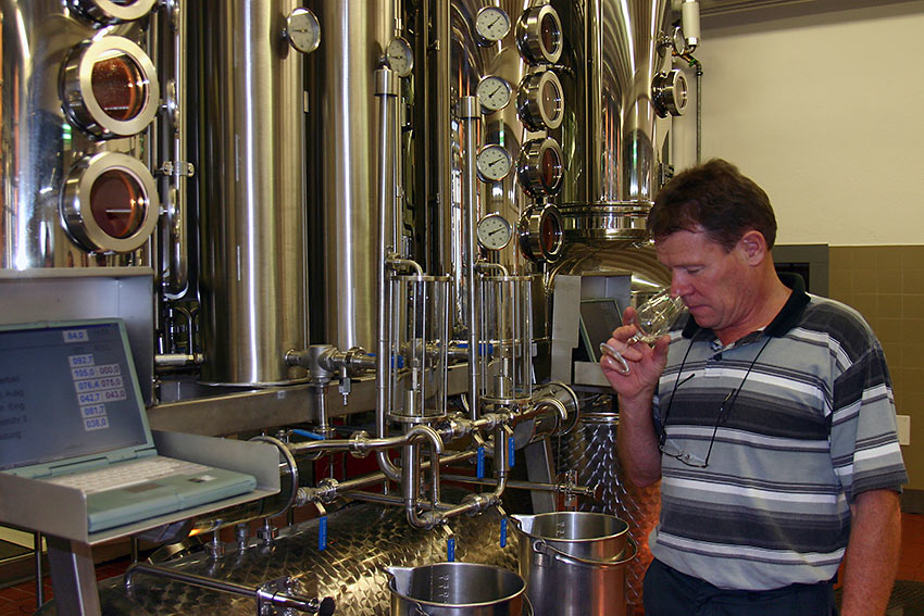 Arnold Dettling at his Kirschwelt distillery