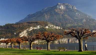 on the shores of Lake Lucerne, Switzerland