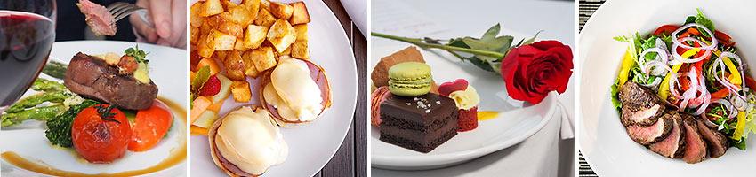 dishes at Pinnacle Hotel restaurants