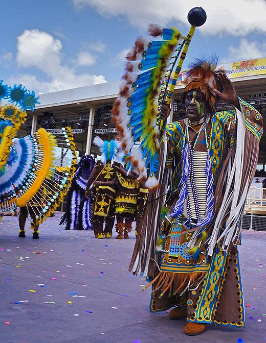 Trinidad and Tobago native in cultural attire