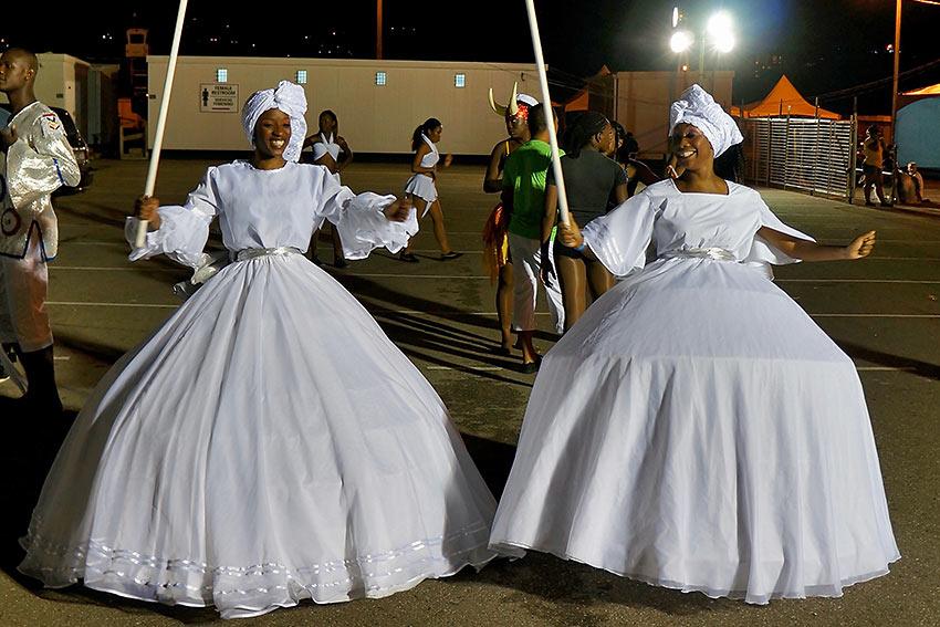 Trinidad & Tobago carnival dancers