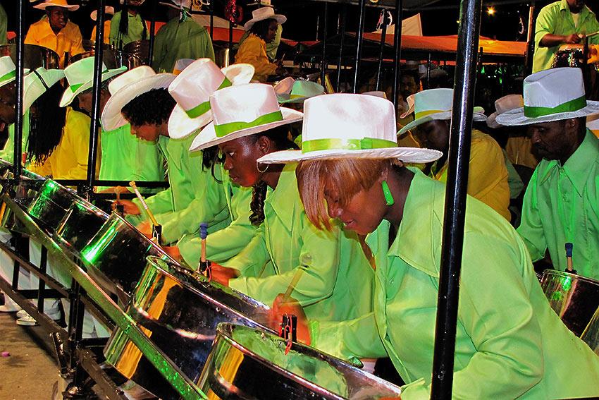 Trinidad & Tobago carnival musicians