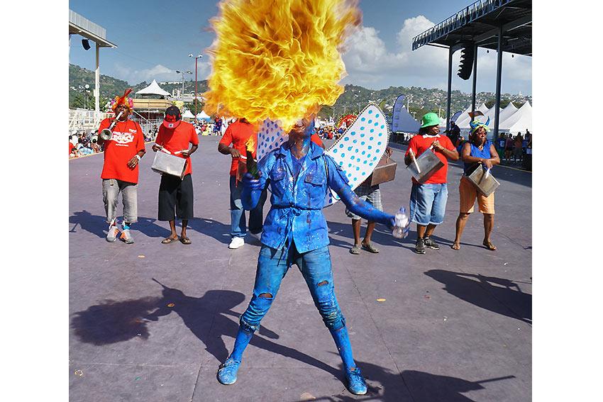 Trinidad & Tobago carnival fire breather