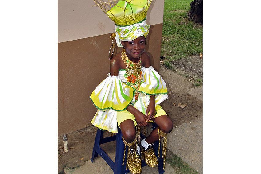 Trinidad & Tobago carnival kid