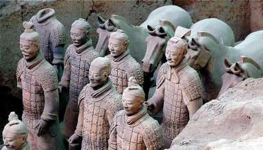 terra cotta warriors at an excavation, Xi'an, central China