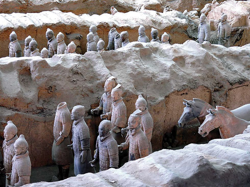 terracotta warriors in Xi'an, central China