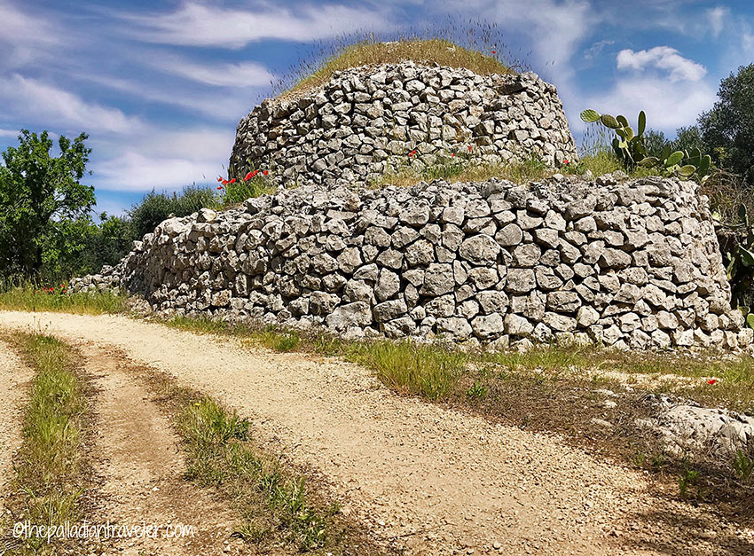 an abandoned trulli or stone hut