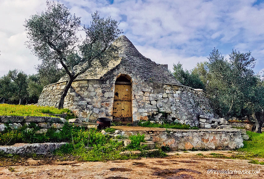 abandoned trulli with cone-shaped roof