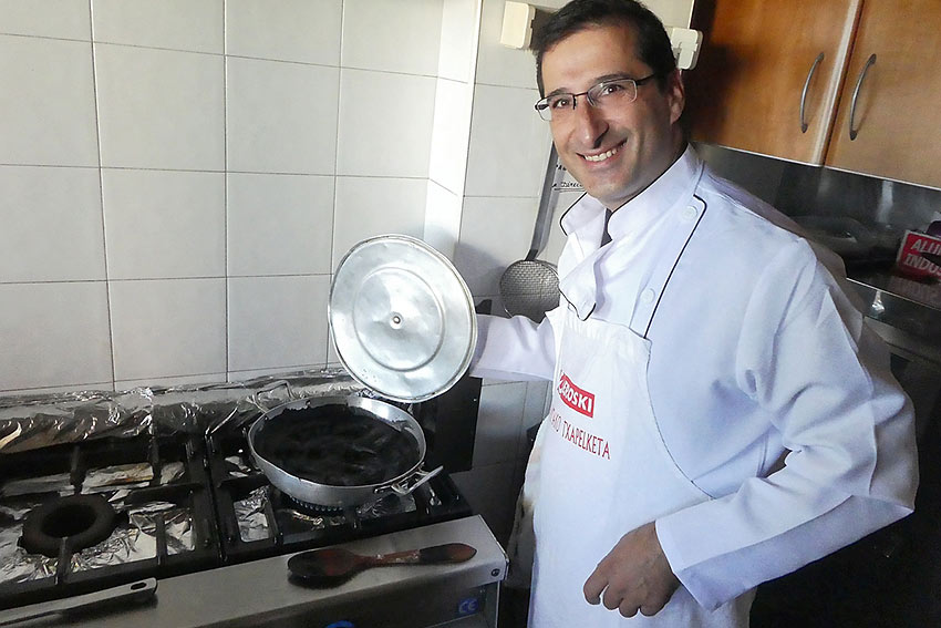 Chef Mikel in his kitchen