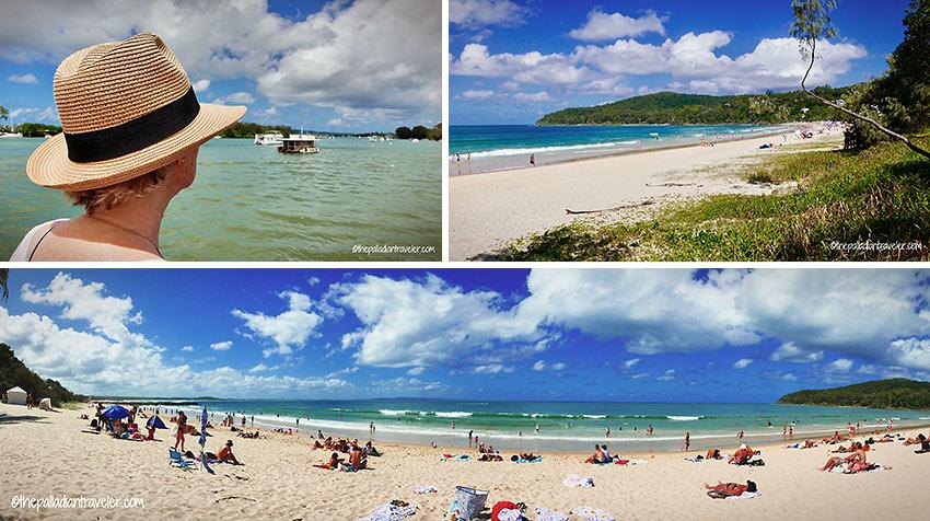 Noosa: coastal scenery and Main Beach