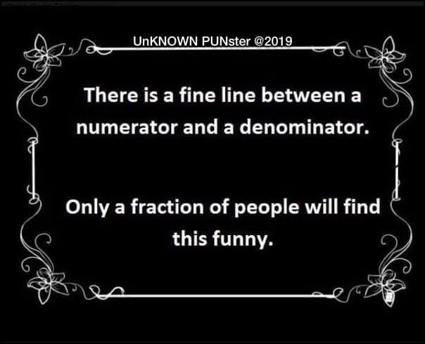 Don's Puns: Fractions