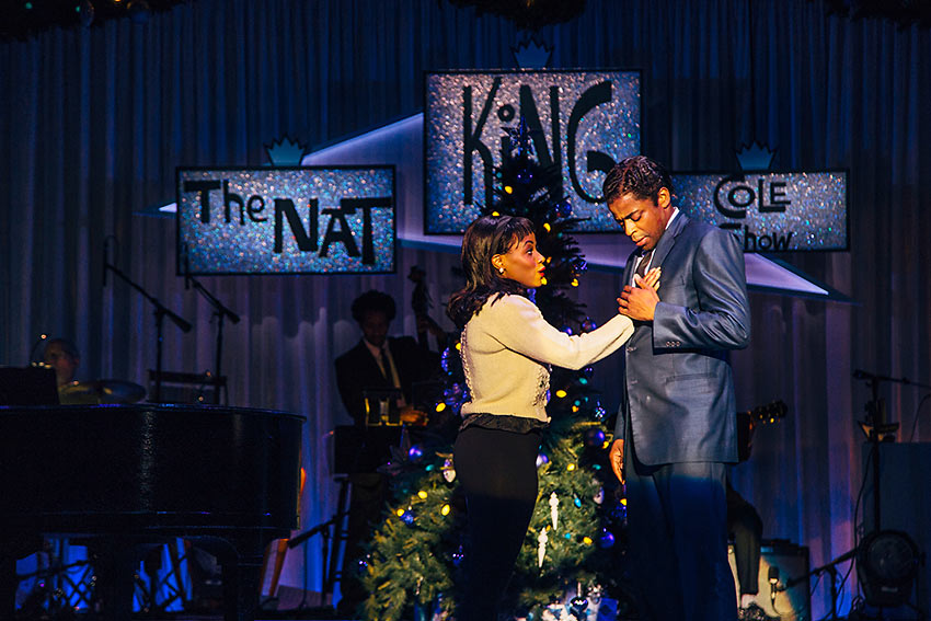 Gisela Adisa as young Natalie Cole and Dule Hill as her dad, Nat 'King' Cole