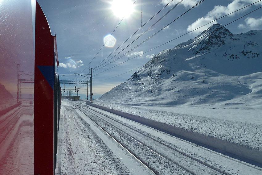 Glacier Express Train in the Graubunden