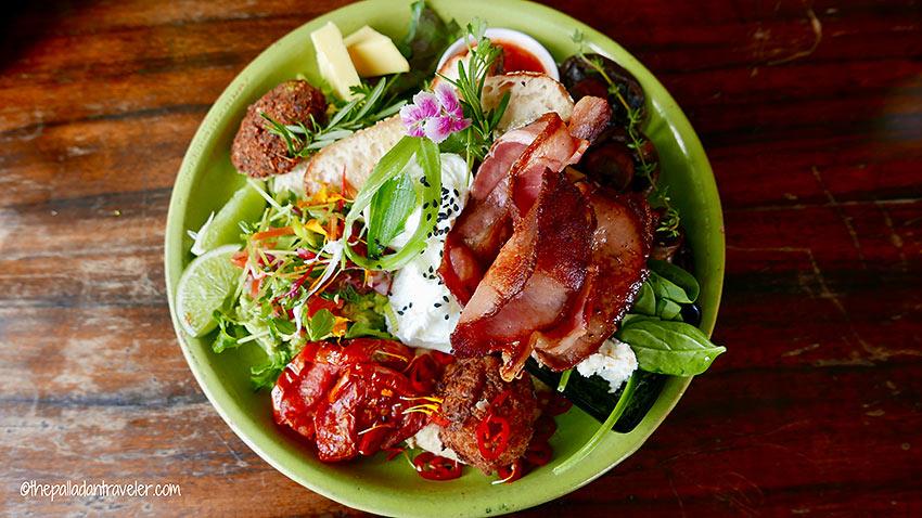 brekkie or breakfast fare prepared by Chef Ben Nielsen