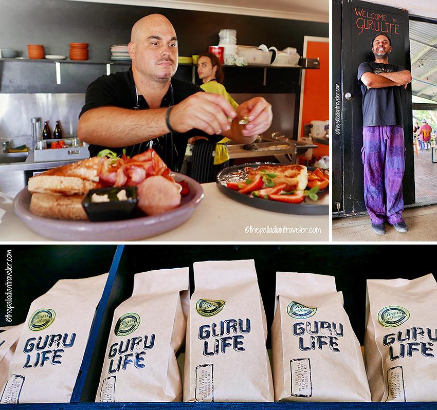 Jonny Bundellu in his Nepalese leisure pants and Chef Ben Nielsen