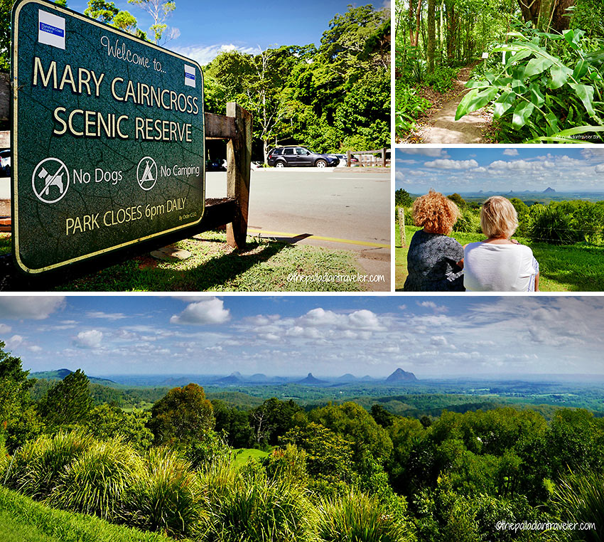 Mary Carincross Scenic Reserve showing the Glasshouse Mountains