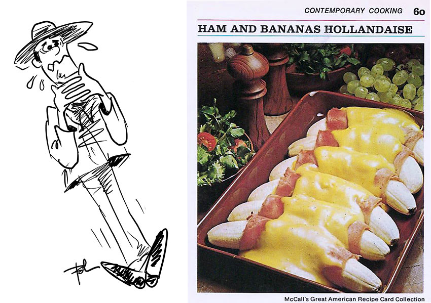 Ham and Bananas Hollandaise