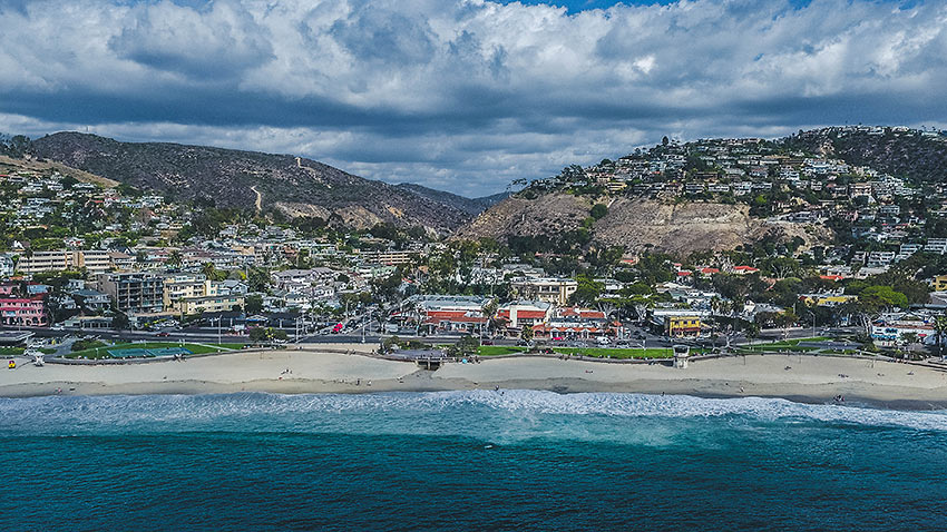 another aerial view of Laguna Beach