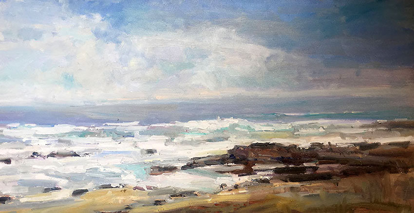 'Laguna Surf' painting by John Eagle
