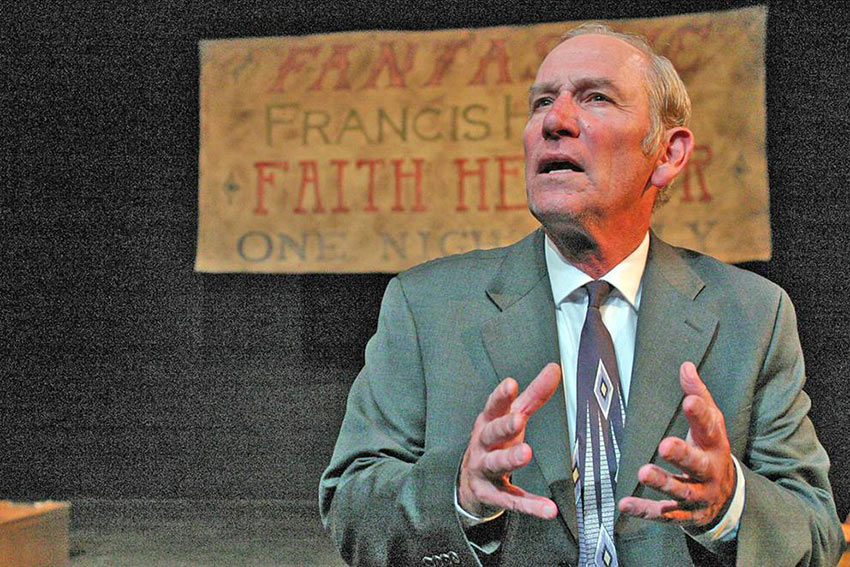 Paul Norwood as Frank in the play 'Faith Healer'