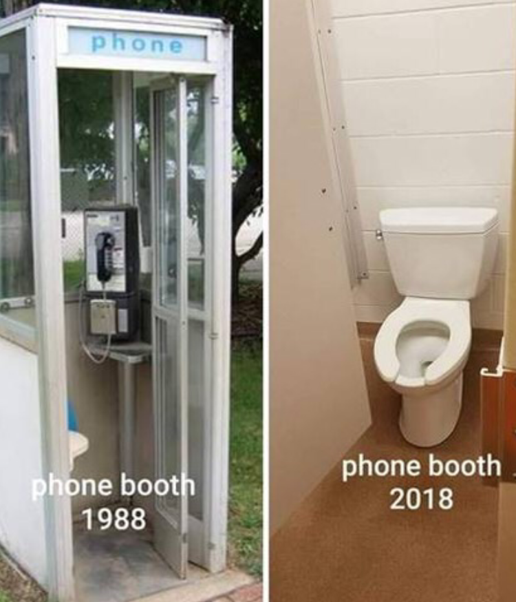 Parting Shot: Phone Booth 1988 vs 2018