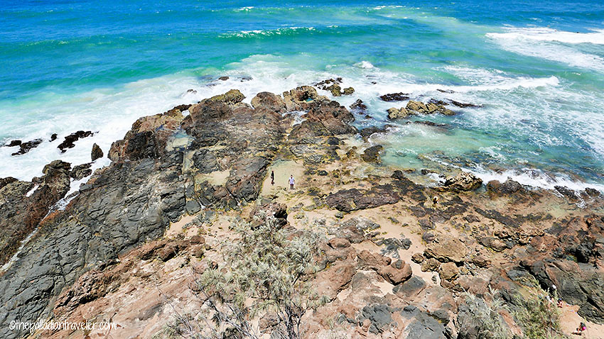 rocky coastline along the Sunshine Coast, Australia