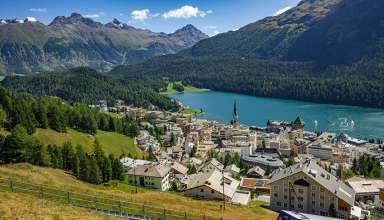 St. Moritz, Graubünden, on the southern side of the Swiss Alps