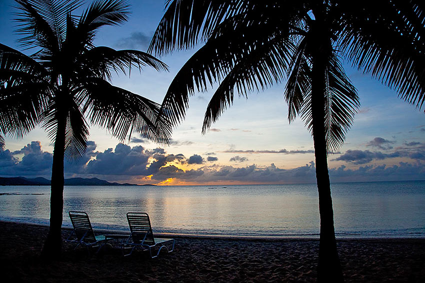 Sunset at The Buccaneer Resort, St. Croix, U.S. Virgin Islands