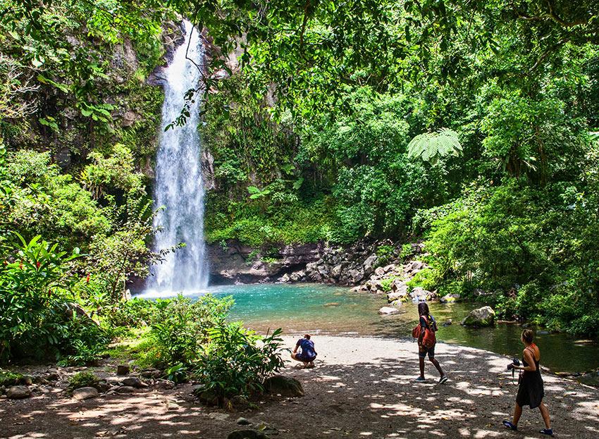 Tavoro Waterfalls, in Bouma National Heritage Park, Taveuni