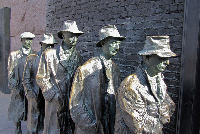 'The Breadline' by sculptor Georg Segal, at the expansive FDR Memorial, Washington D.C.