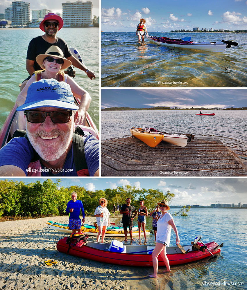 writer and 5 other guests kayaking