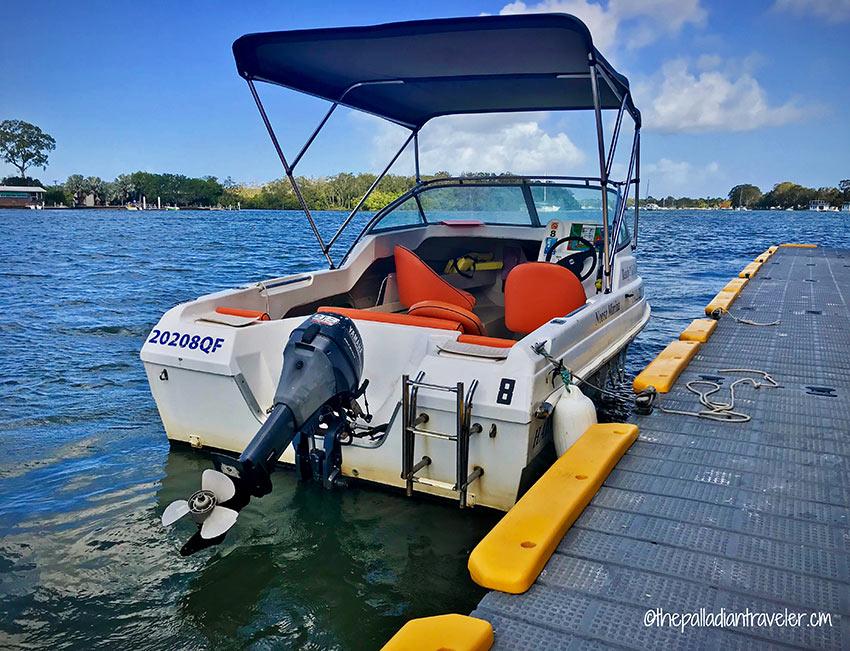 half-cabin cruiser from Ready 2 Go Boat Hire