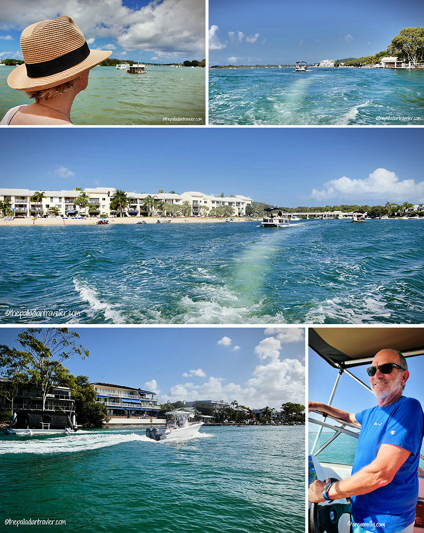 waterways cruising: up the Noosa River aboard a half-cabin cruiser from Ready 2 Go Boat Hire