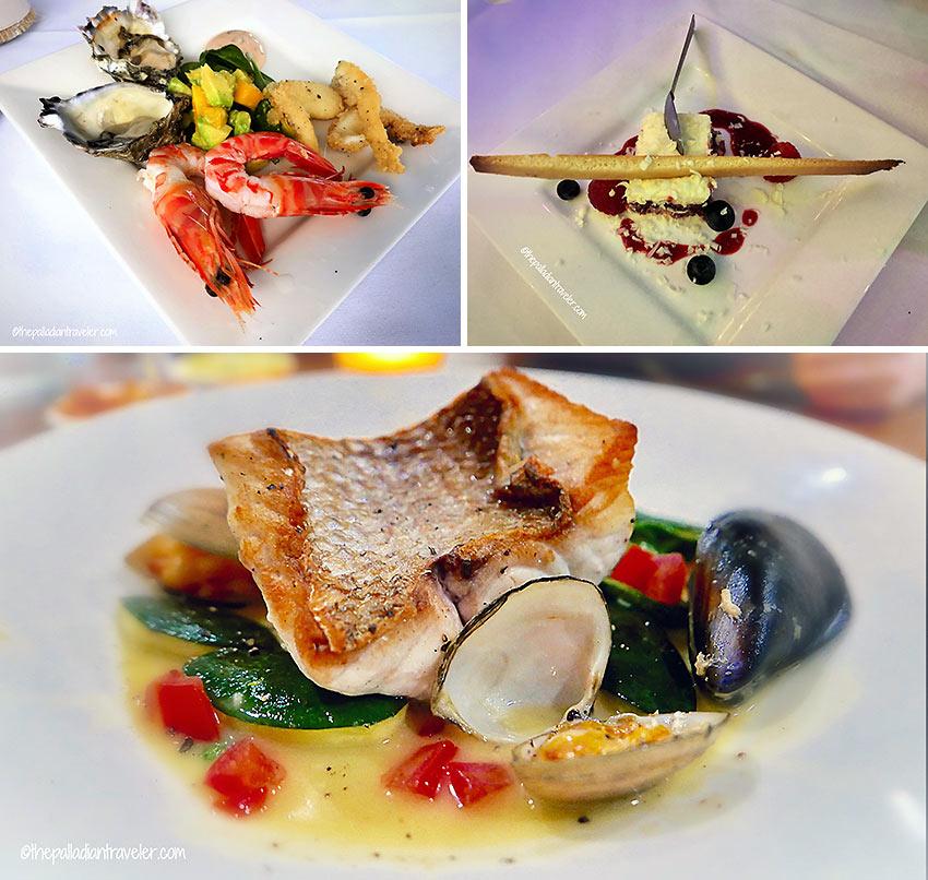 Chef Tristan's dishes aboard the Noosa Cruiser Restaurant & Bar